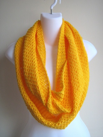 A Yellow Cashmere Scarf