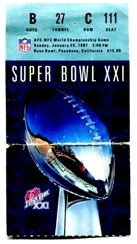 super bowl tix 1 25 87