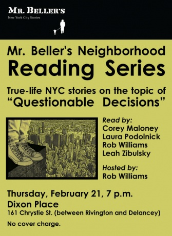Mr. Beller's Neighborhood Reading Series Returns!!!