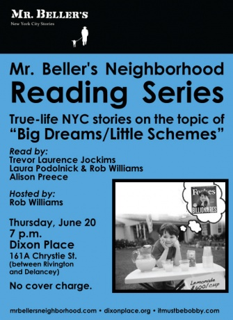 Mr. Beller's Neighborhood Reading Tonight!